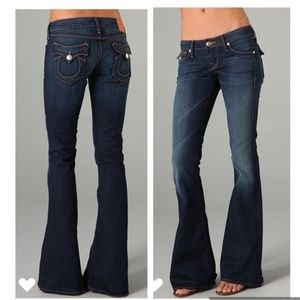 True Religion Carrie Skinny Flare Jeans Dark Wa 25